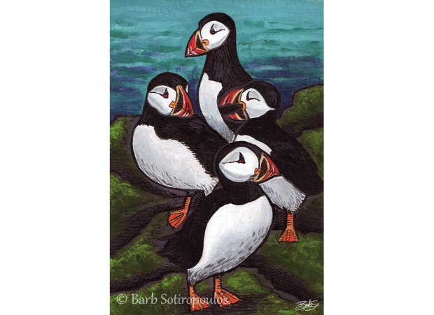 Pack of Puffins_Barb Sotiropoulos