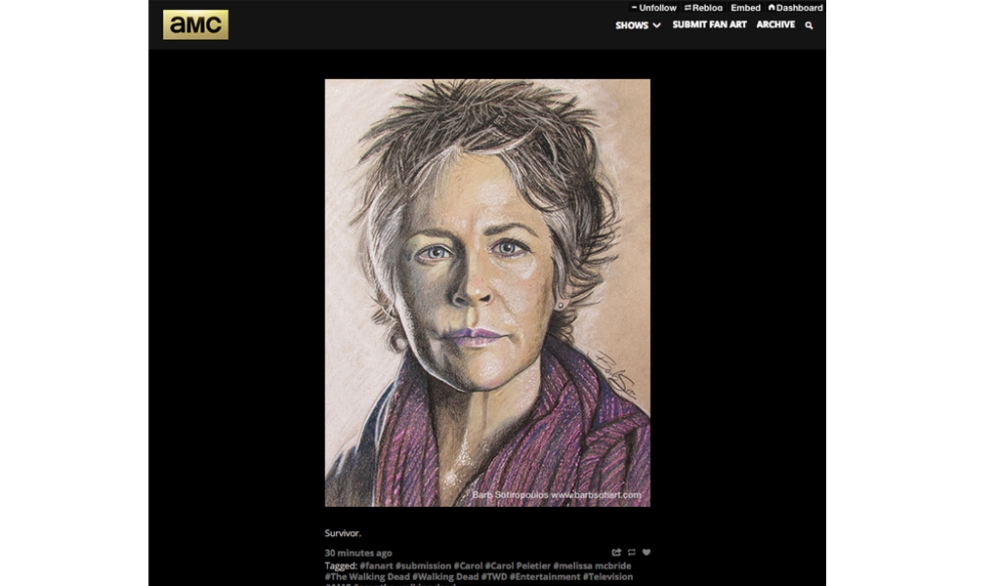 Nobody Messes With Carol on AMC's Official Tumblr