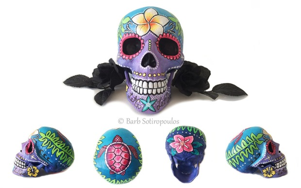 Marisol Day of the Dead inspire painted skull