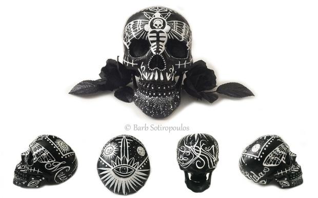 Mariposa Custom Painted Skull