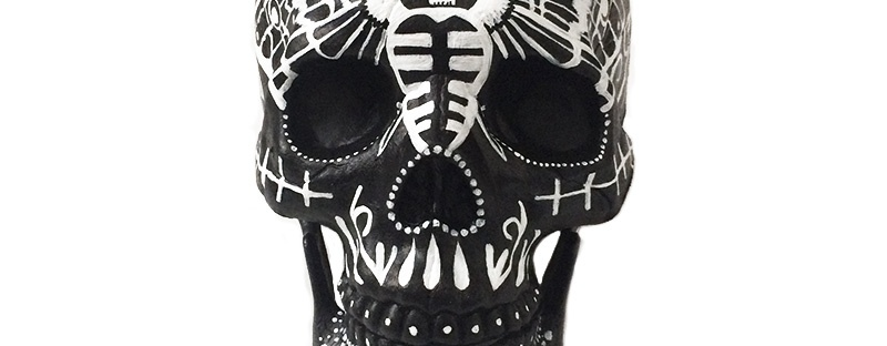 Mariposa Custom Painted Skull