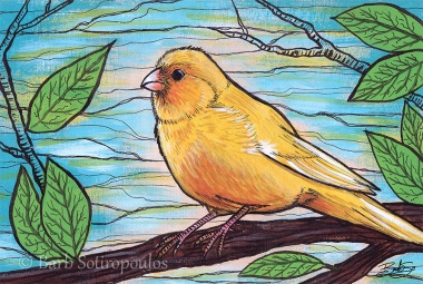 """""""Walter""""6×4 in, Acrylic and ink on Strathmore Mixed Media Paper 2014. All images copyright Barb Sotiropoulos. All Rights Reserved. (Prints Available)"""