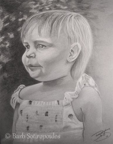 """""""Riley"""" 11×14 in Charcoal on Mi-Teintes 2010. All images copyright Barb Sotiropoulos. All Rights Reserved. (Private Collection)"""