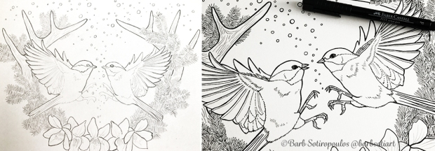 My Process Was The Same As Usual For This Piece Starting With A Pencil Sketch And Then Light Pad Transferring Inking Lines