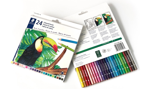 Staedtler toucan colored pencil packaging
